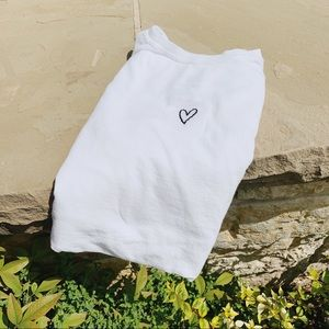 "Salty Cold Brew Tops - Embroidered ""Heart"" Handmade Tee"